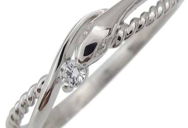 蛇の指輪で金運アップ!女性でも使いやすいシンプルなデザインの指輪♡